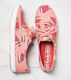 Designer shoes for Women Keds Sneakers, Cute Sneakers, Keds Shoes, Canvas Sneakers, Lace Up Shoes, Me Too Shoes, Watermelon Outfit, Tenis Vans, Keds Champion
