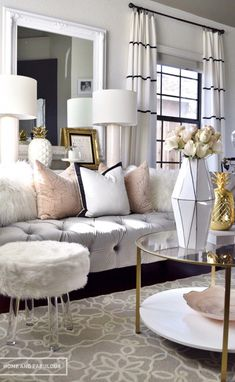Black And White Living Room Furniture | Mixing Gold And Gray Google Search Paint Colors Pinterest
