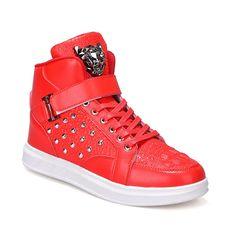 29.13$  Watch now - https://alitems.com/g/1e8d114494b01f4c715516525dc3e8/?i=5&ulp=https%3A%2F%2Fwww.aliexpress.com%2Fitem%2Fnew-fashion-2016-men-Women-casual-shoes-couple-shoes-unisex-Durable-Outdoor-Lace-Up-mosaic-rivet%2F32767471440.html - new fashion 2016 men casual shoes couple shoes unisex Durable Outdoor Lace-Up mosaic rivet high-top shoes sapatos casuais