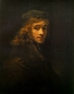 """""""Portrait of Titus, Rembrandt's Son""""  -  Circa 1662  --  Rembrandt van Rijn  - Dutch -  The Louvre  -  Paris, France"""