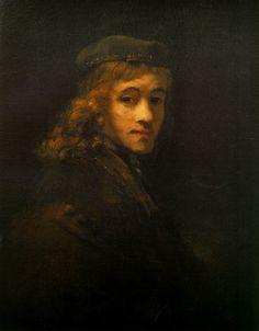 """""""Portrait of Titus, Rembrandt's Son""""  --  Circa 1662  --  Rembrandt van Rijn  --  Dutch  --  Oil on canvas  --  The Louvre  --  Paris, France"""