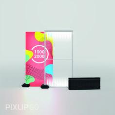 Leuchtwand 1000 x 2000 x 150 mm PIXLIP GO kennt kein Werkzeug. Das intelligente und intuitive Stecksystem ermöglicht einen schnellen und einfachen Aufbau innerhalb weniger Minuten.