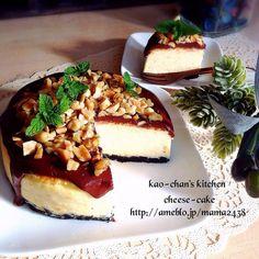 簡単*濃厚なめらかチーズケーキ*ナッツ&チョコトッピング