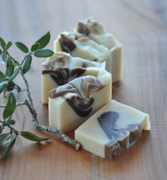 Peppermint Spearmint Soap - Vegan Soap Cocoa Butter - Mint to Be   by lingerbathandbody