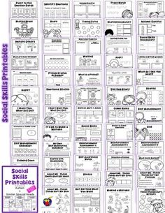 Social Skills Printables for Students with Autism & Similar Special Needs Social Skills Activities, Teaching Social Skills, Social Emotional Learning, Elementary School Counseling, School Social Work, School Counselor, Autism Resources, Social Thinking, School Psychology