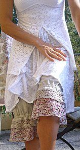 Ruffles and Lace...a great idea to create interesting looks with old laces ready for repurposing...also pieces of antique linens.