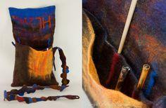 Designer OOAK handfelted messenger bag by ArianeMariane on Etsy, €220.00