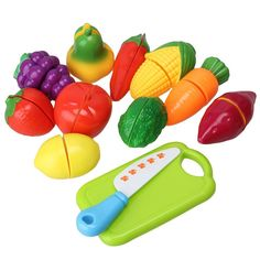 Multicolor Kitchen Food Pretend Play Toy Cutting Fruit Vegetable Knife Kids Baby Gift Enhanced Edition Set of 12pcs: Amazon.co.uk: Toys & Games £6.58