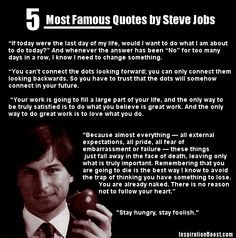5 Most Famous Quotes by Steve Jobs