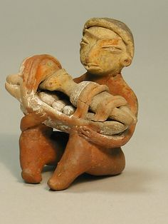 12-9th C. BCE. Ceramic Mother and Child Figure  Mesoamerican Culture: Tlatilco. Mexico.