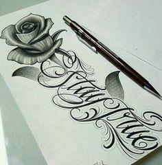 Rose tattoo idea. stay true