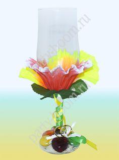 Свадебный бокал в гавайском стиле - Уроки мастерства - интернет-магазин «Патибум»