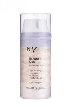 Boots No 7 Beautiful Skin Hydration Mask for dry, irritated skin $17 - LOVE this. My skin is so smooth after using this.
