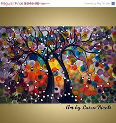 on SALE Original Whimsical Painting SEASONS of LOVE by LUIZAVIZOLI, $310.50