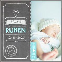 Jongens #Geboortekaartje  #Geboorte #Zwanger #Baby #FotoKaartje met #KrijtBord #FotoKaart van #Kaartmix #BirthAnnouncement