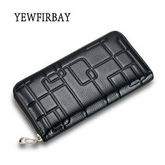 2017 New fashion Women Wallets female cards holders embossing genuine leather wallet coin purses girl Long Wallet lady wallets