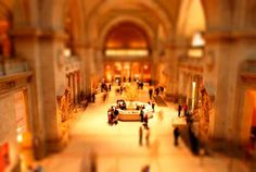 Tilt-shift. The illusion of a miniature world...