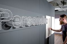 personalise text made out of pens? cool nontraditional type.