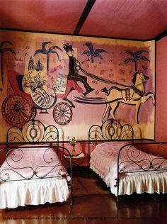 Mural in the Finca Los Alamos estate painted by Hector Basaldua. http://www.fincalosalamos.com/en/Finca/Finca.html