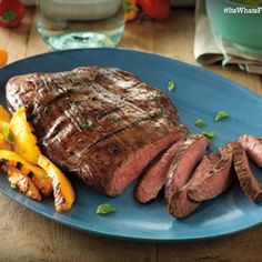 Dinner doesn't get any simpler—or more delicious—than this. With a few flavorful marinade ingredients like fresh basil, Dijon mustard and garlic, your Flank Steak will be melt-in-your-mouth delightful. Steak Recipes, Grilling Recipes, Paleo Recipes, Dinner Recipes, Cooking Recipes, Food Network Recipes, Beef Dishes, Food Dishes, Main Dishes