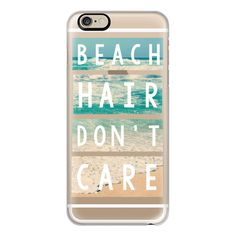 iPhone 6 Plus/6/5/5s/5c Case - Beach Hair Don't Care Block found on Polyvore featuring accessories, tech accessories, phone cases, phone, cases, iphone, iphone case, iphone cases, apple iphone 6 case and iphone 5 cover case