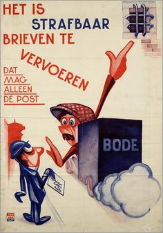 1930-40 Ton van Tast - Nederland Ww2 Posters, Safety Posters, Art Deco Posters, Cool Posters, Poster Prints, Vintage Advertising Posters, Old Advertisements, Advertising Signs, Vintage Ads