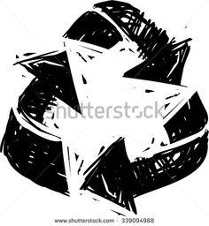 Recycling Symbol, Hand Draw Illustration - 339094988 : Shutterstock