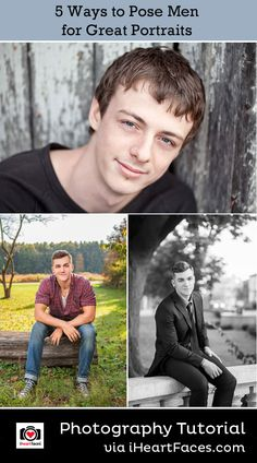 5 Ways to Pose Men for Great Portraits. Photography Tips for men.