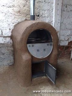 hornos de barro - Buscar con Google Wood Oven, Wood Fired Oven, Outdoor Oven, Outdoor Cooking, Kitchen Oven, Rustic Kitchen, Mexican Style Kitchens, Mud House, Bread Oven