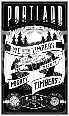 Portland Timber Flag by tim weakland, via Behance