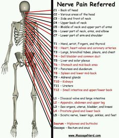 Nerve Pain referral sites