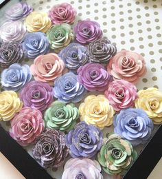 Flower Tutorial I had a lot of fun making these little flowers! I had a shadow box that I needed to fill and I…