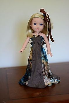 """Fall Violin Concert"" Dress, Outfit for 14.5"" American Girl Wellie Wishers"