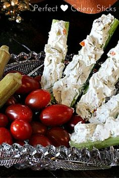 Don't forget the stuffed celery on your Holiday relish plate. Classic stuffed celery recipe, cream cheese, walnuts, green olives and blue cheese = perfect.