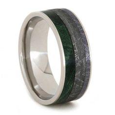 New Meteorite Ring with Composite Mokume and Box Elder Burl