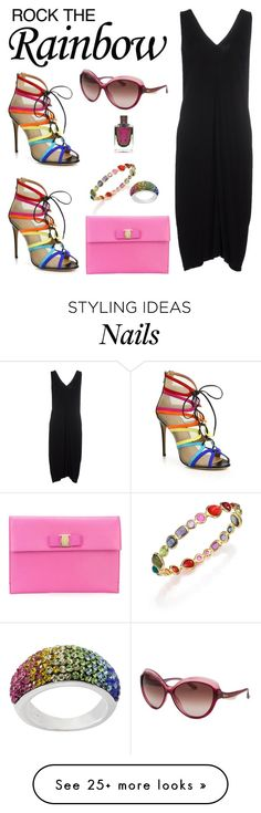 """""""Rainbow Style"""" by dazzlious on Polyvore featuring Ippolita, Salvatore Ferragamo, women's clothing, women's fashion, women, female, woman, misses and juniors"""