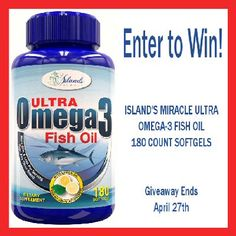 Enter to win a 3 Month's Supply of #IslandsMiracle Fish Oil before the #Giveaway ends 4/27