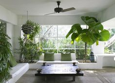 love... you can just feel the [green] oxygen... perfect breathing space not only for all the lush oxygenating & life~force giving plants but the whole of the (design & decor) lay-out as well...