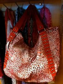 Red Sparkly Cheetah Purse/Tote