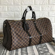 bb80124354b0 Louis Vuitton lv keepall 50 duffels travel luggage bag Damier ebene. Travel  LuggageLuggage BagsLuxury ...