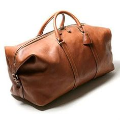 Brown Leather Weekender Bag GORGEOUS Handmade in America by Amish ...