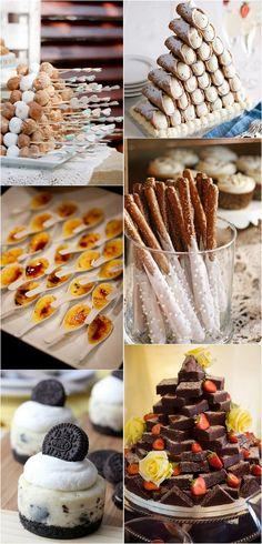 creative wedding dessert ideas #weddingfood #weddingreception