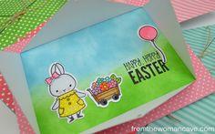 Happy Hoppy Easter!  MFT Somebunny, Ellen Hutson Diagonal Window Die