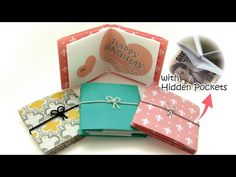 A4一枚で折るメッセージカード(ぽち袋にもなる)Origami Message Card with a hidden pocket - YouTube
