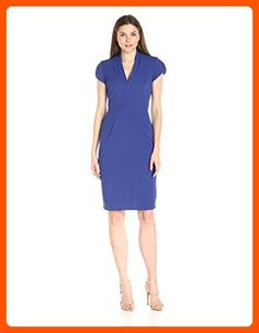 7961c04fc92ed6 online shopping for Lark   Ro Women s Cap-Sleeve V-Neck Sheath Dress from  top store. See new offer for Lark   Ro Women s Cap-Sleeve V-Neck Sheath  Dress