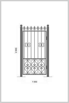 #Калитка / #Wrought_Iron_Doors #gate Артикул: k_03 Ширина, мм: 1000 Высота, мм: 2000 Покрытие: Пентал Амор Цена: 14 200 руб./шт. Подробное описание на сайте. #metalmade