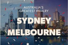 The Sydney vs Melbourne rivalry only seems to grow more intense each day. It's obviously about more than just footb Cheap Flights, Melbourne Australia, Trivia, Sydney, Day, Infographics, Bucket, Posts, Messages