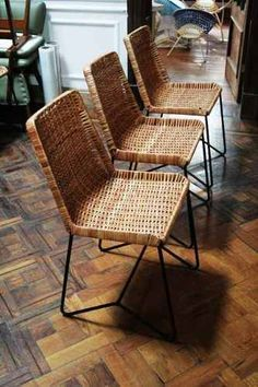 Roost ingrid rattan dining chair set of 2 rattan - Sillas de rattan ...