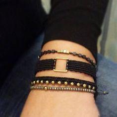 To Couture . Trash To Couture, Thread Bracelets, Macrame Bracelets, Handmade Bracelets, Textile Jewelry, Macrame Jewelry, Friendship Bracelets Designs, Micro Macramé, Bespoke Jewellery