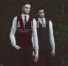 Lay Down casual waistcoat at Azentase via Sims 4 Updates Check more at http://sims4updates.net/clothing/lay-down-casual-waistcoat-at-azentase/